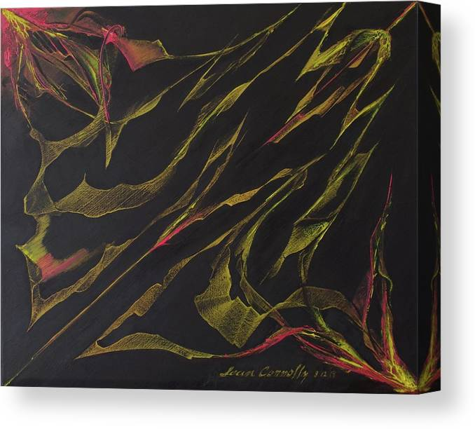 Abstract Oil Painting Canvas Print featuring the painting Ribbon Stung by Sean Connolly