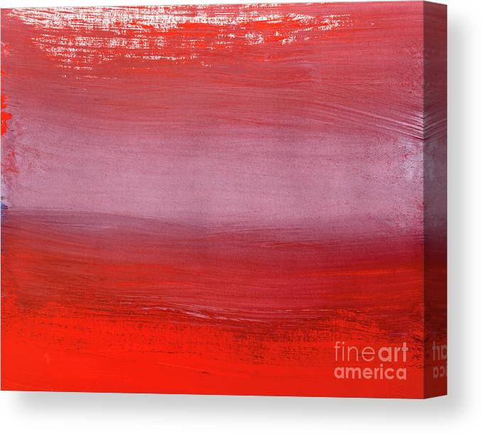Gouache Canvas Print featuring the digital art Shades Of Red Abstract Gouache by Vagengeym elena