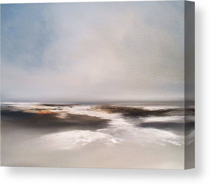 Seascape Canvas Print featuring the painting Shell Collectors by Roland Byrne
