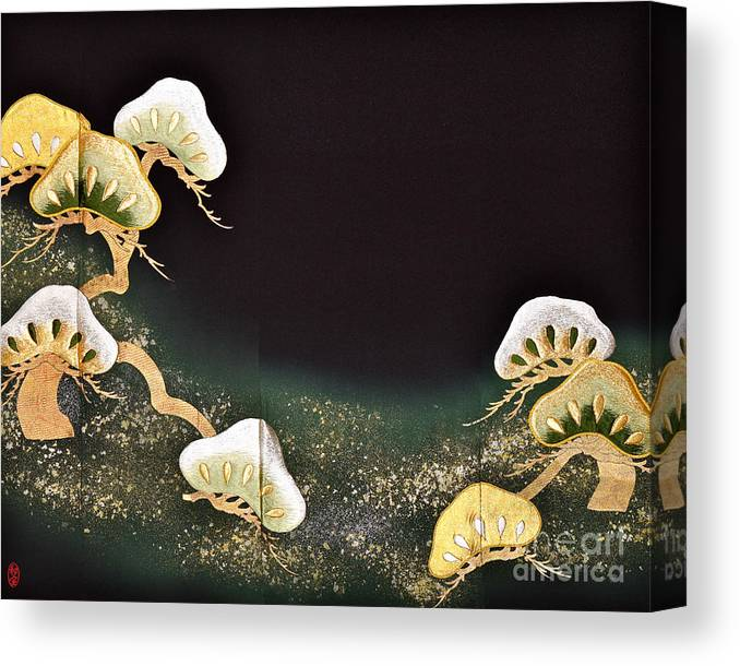 Canvas Print featuring the digital art Spirit of Japan T2 by Miho Kanamori