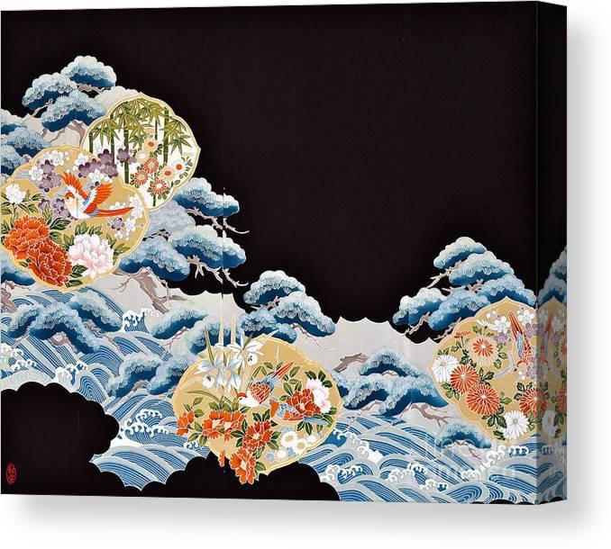 Canvas Print featuring the digital art Spirit of Japan T6 by Miho Kanamori