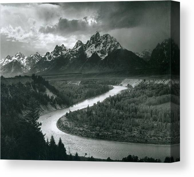Social Issues Canvas Print featuring the photograph The Tetons - Snake River by Archive Photos