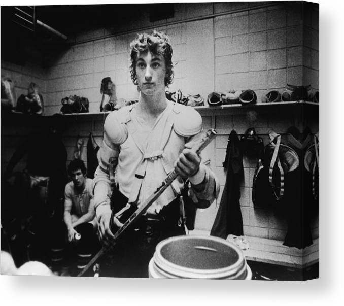 Following Canvas Print featuring the photograph Wayne Gretzkys Last Wha Game by B Bennett