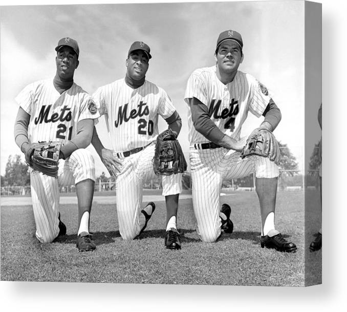 American League Baseball Canvas Print featuring the photograph What Could Be The New York Mets by New York Daily News Archive