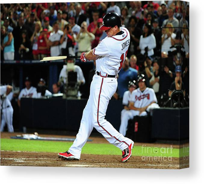 Atlanta Canvas Print featuring the photograph Chipper Jones by Scott Cunningham
