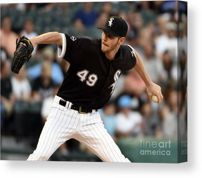 Three Quarter Length Canvas Print featuring the photograph Chris Sale by David Banks
