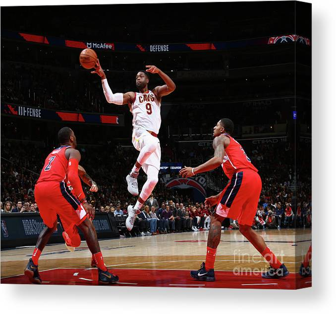 Nba Pro Basketball Canvas Print featuring the photograph Dwyane Wade by Ned Dishman