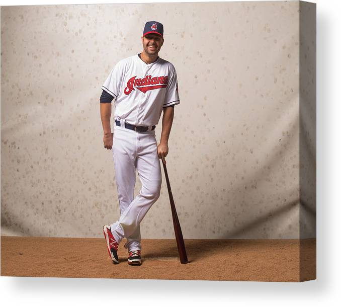 American League Baseball Canvas Print featuring the photograph Nick Swisher by Rob Tringali