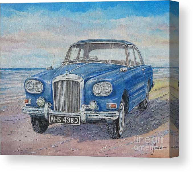 1963 Bentley Continental S3 Coupe Canvas Print featuring the painting 1963 Bentley Continental S3 Coupe by Sinisa Saratlic