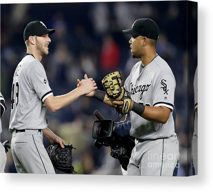 Three Quarter Length Canvas Print featuring the photograph Chris Sale by Elsa
