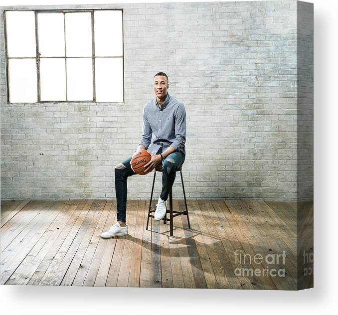 Nba Pro Basketball Canvas Print featuring the photograph Dante Exum by Nathaniel S. Butler