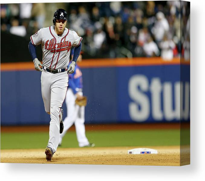 Residential District Canvas Print featuring the photograph Freddie Freeman by Elsa