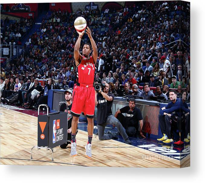 Event Canvas Print featuring the photograph Kyle Lowry by Nathaniel S. Butler