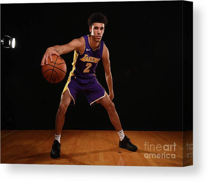 Nba Pro Basketball Canvas Print featuring the photograph Lonzo Ball by Brian Babineau