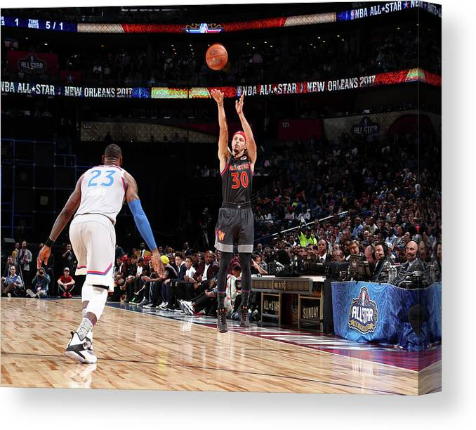 Event Canvas Print featuring the photograph Stephen Curry by Nathaniel S. Butler