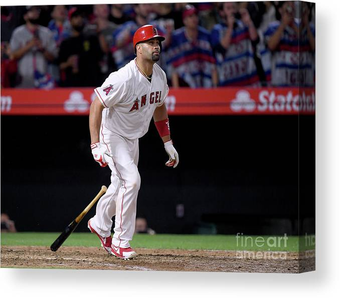 Ninth Inning Canvas Print featuring the photograph Albert Pujols by Harry How