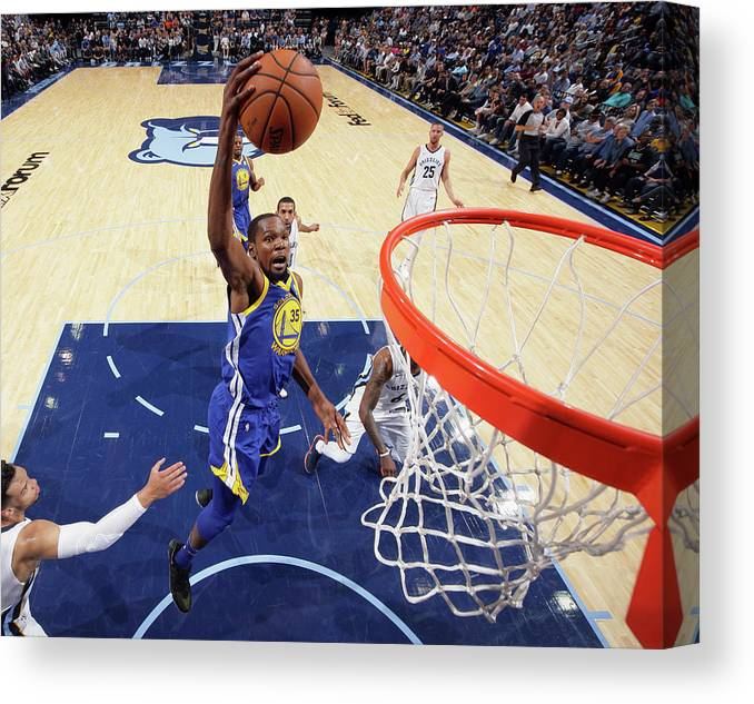 Nba Pro Basketball Canvas Print featuring the photograph Kevin Durant by Joe Murphy