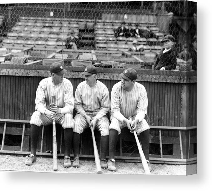 American League Baseball Canvas Print featuring the photograph Babe Ruth by New York Daily News Archive