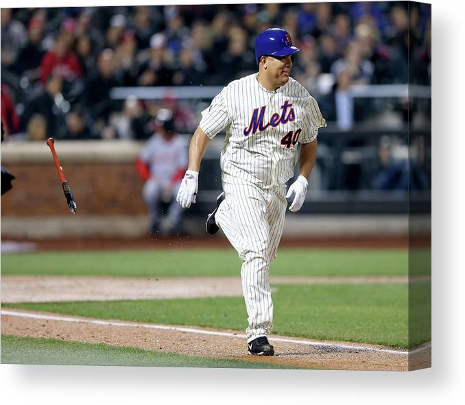 People Canvas Print featuring the photograph Bartolo Colon by Elsa
