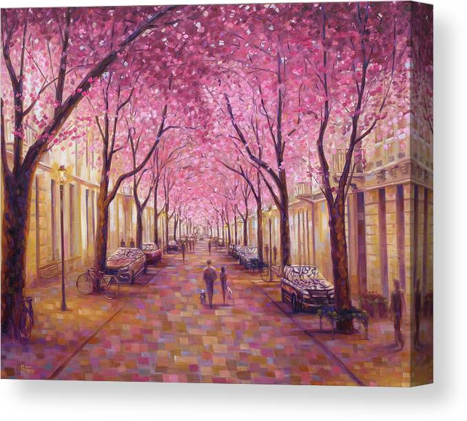 Bonn Germany Canvas Print featuring the painting Bonn by Rob Buntin