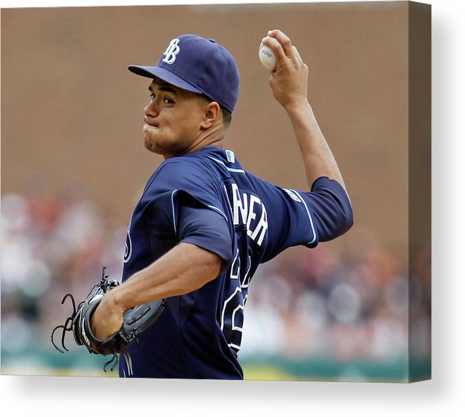 American League Baseball Canvas Print featuring the photograph Chris Ray by Duane Burleson