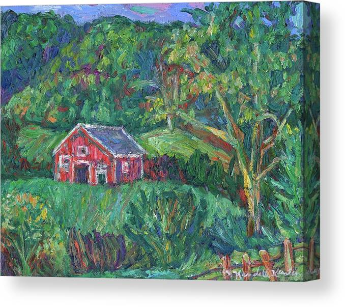 Rural Canvas Print featuring the painting Clover Hollow in Giles County by Kendall Kessler