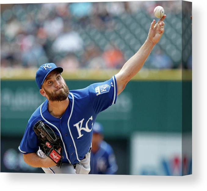 American League Baseball Canvas Print featuring the photograph Danny Duffy by Duane Burleson