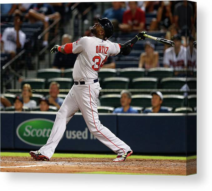 Atlanta Canvas Print featuring the photograph David Ortiz by Mike Zarrilli