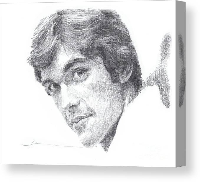 Www.miketheuer.com Canvas Print featuring the drawing Departed Young Uncle by Mike Theuer