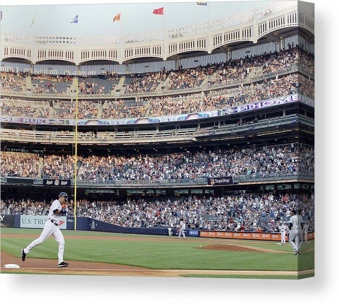 People Canvas Print featuring the photograph Derek Jeter and Curtis Granderson by Elsa