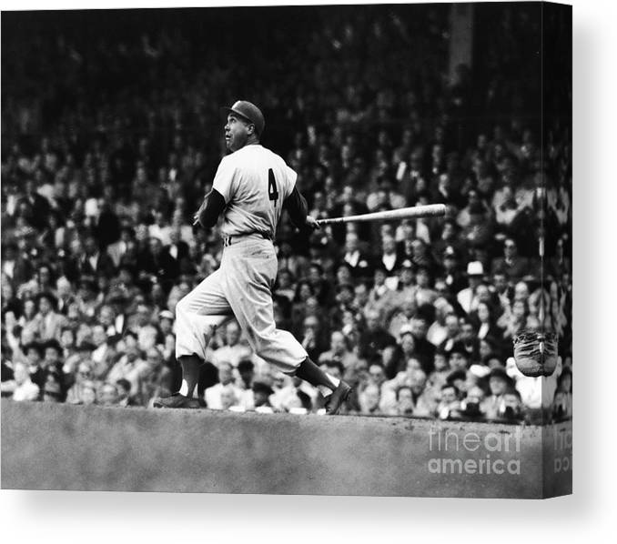 Following Canvas Print featuring the photograph Duke Snider by Robert Riger