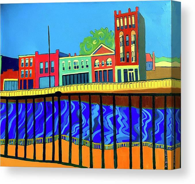 Cityscape Canvas Print featuring the painting Dutton Street by Debra Bretton Robinson