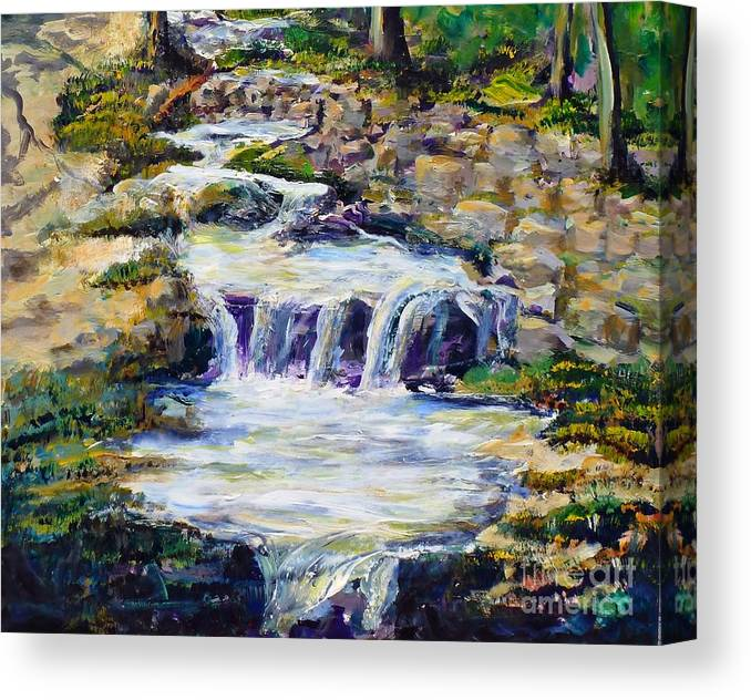 Los Angeles Canvas Print featuring the painting Fern Dell Creek Noon by Randy Sprout