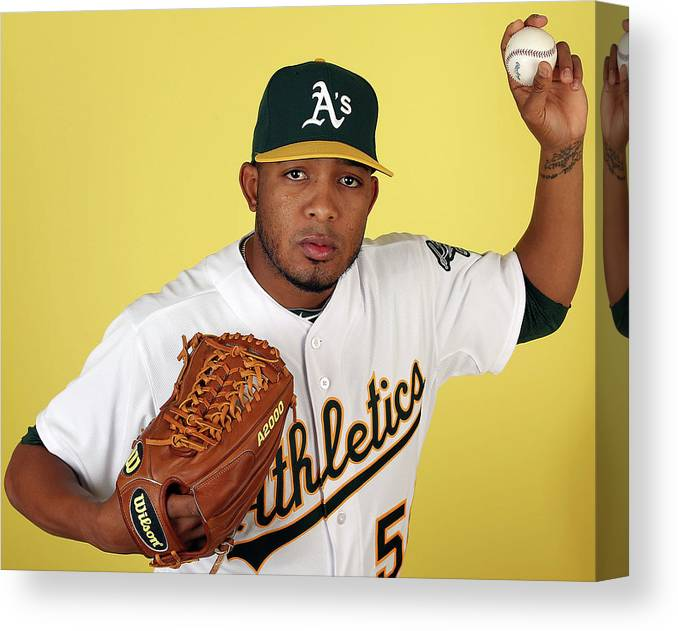 Media Day Canvas Print featuring the photograph Fernando Abad by Christian Petersen