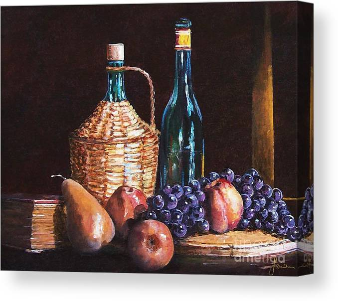 Still Life Canvas Print featuring the painting Fruits by Sinisa Saratlic