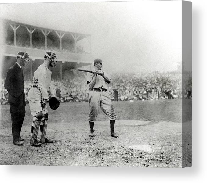 Home Base Canvas Print featuring the photograph Honus Wagner by National Baseball Hall Of Fame Library
