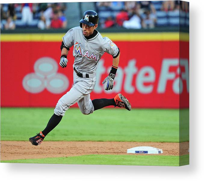 Atlanta Canvas Print featuring the photograph Ichiro Suzuki by Scott Cunningham