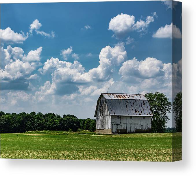 Barn Canvas Print featuring the photograph Indiana Barn, #5 by Scott Smith