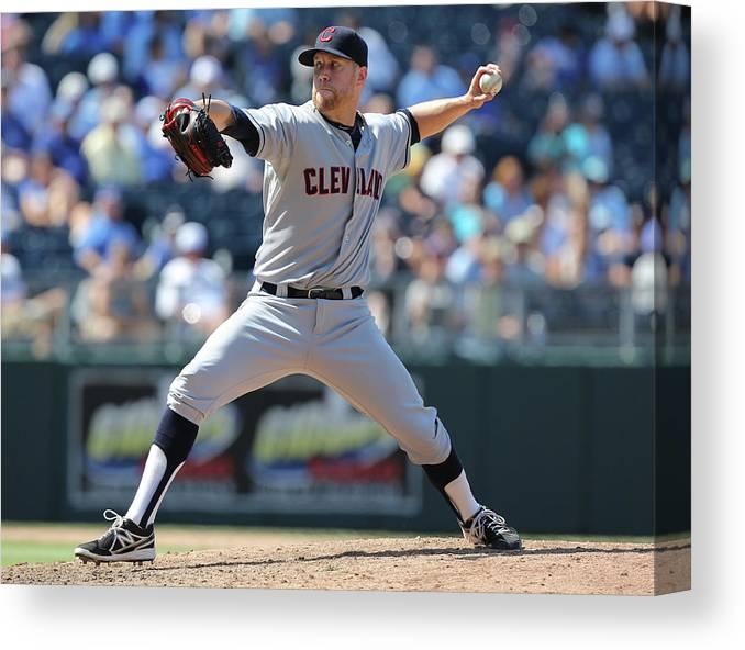 American League Baseball Canvas Print featuring the photograph Josh Outman by Ed Zurga