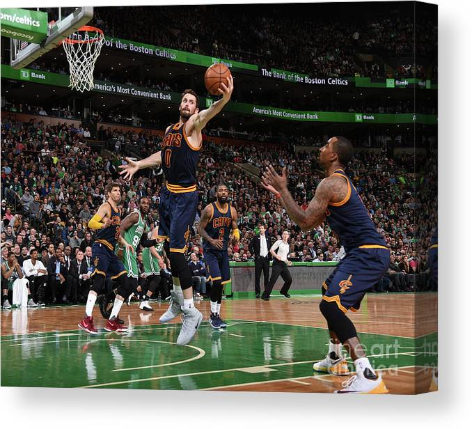 Nba Pro Basketball Canvas Print featuring the photograph Kevin Love by Brian Babineau