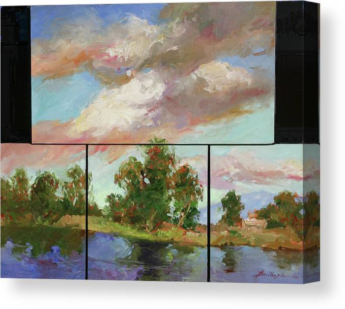 Murals Canvas Print featuring the painting Last of Sand Creek - Plein Air by Betty Jean Billups