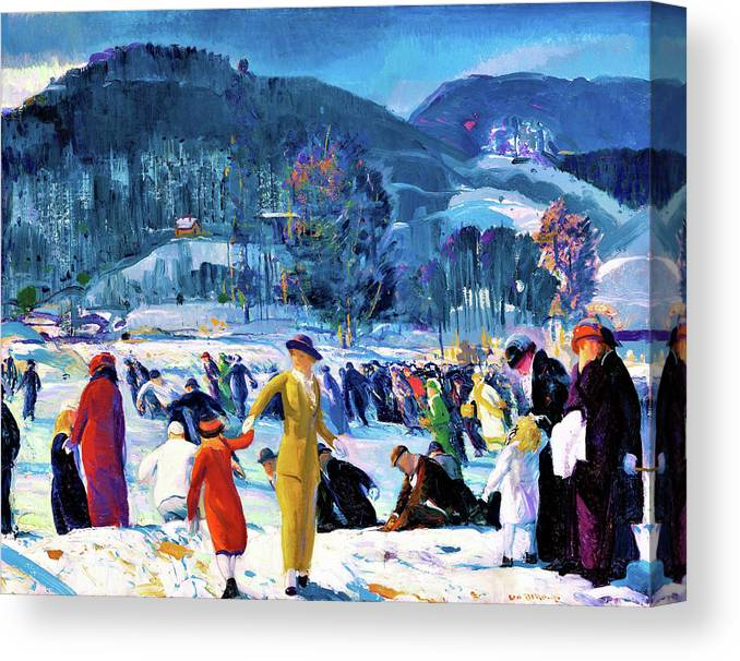 Love Of Winter Canvas Print featuring the painting Love of Winter - Digital Remastered Edition by George Wesley Bellows
