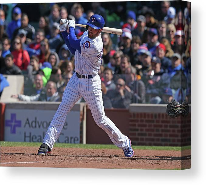 National League Baseball Canvas Print featuring the photograph Nate Schierholtz by Jonathan Daniel