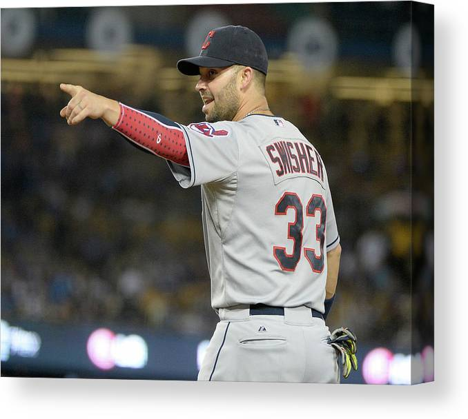 American League Baseball Canvas Print featuring the photograph Nick Swisher by Harry How