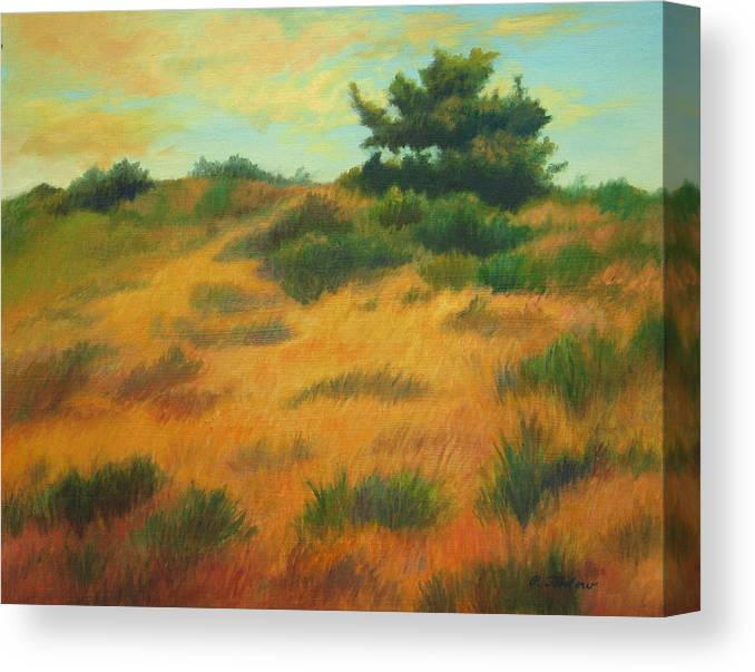 Cape Cod Scene Canvas Print featuring the painting Province Lands Cape Cod by Phyllis Tarlow