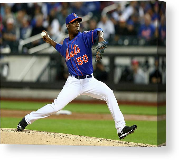 Second Inning Canvas Print featuring the photograph Rafael Montero by Elsa