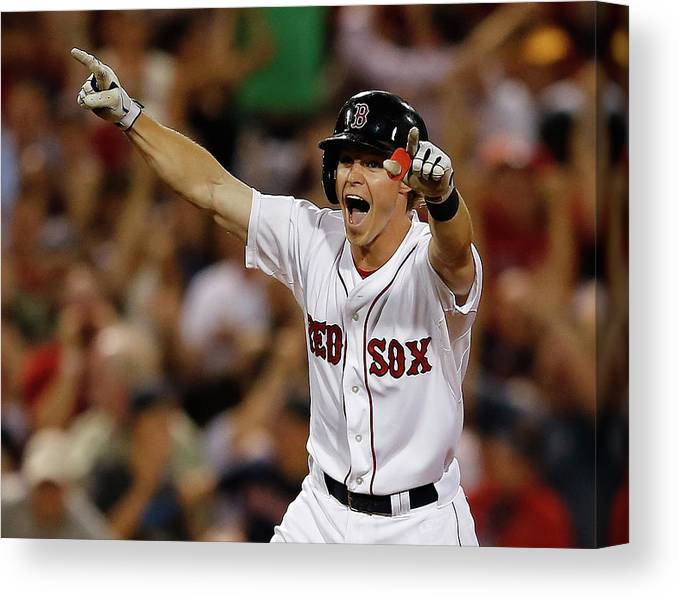 Ninth Inning Canvas Print featuring the photograph Red Holt by Jim Rogash
