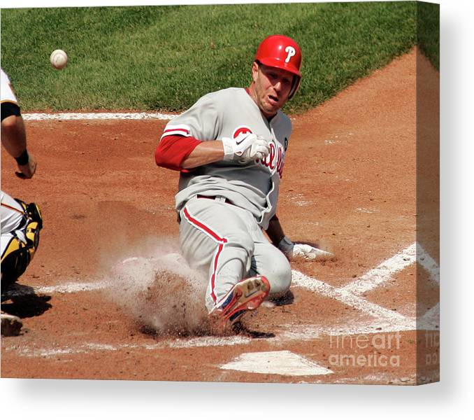 People Canvas Print featuring the photograph Roy Halladay by Justin K. Aller