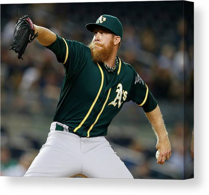 Ninth Inning Canvas Print featuring the photograph Sean Doolittle by Rich Schultz