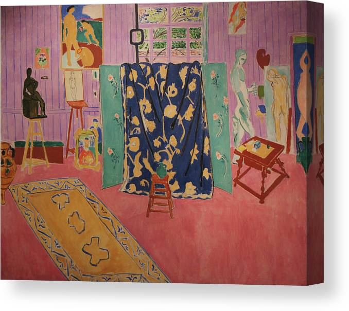 Henri Matisse Canvas Print featuring the painting The Pink Studio by Henri Matisse